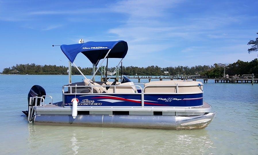 Rent 18ft SunTracker Pontoon in Sarasota/Bradenton Bay, United States