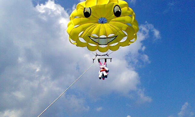 Parasailing in Cozumel, Mexico
