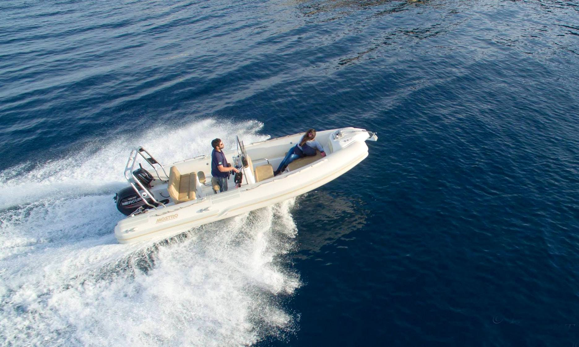 Mostro 581 Offshore RIB Rental in Ithaki