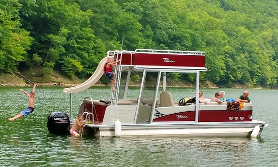 Double Deck Pontoon Boat With Water Slide, Sutton Lake, Wv
