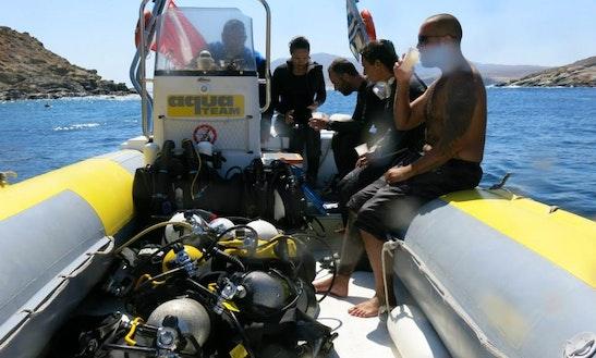 Boat Diving In Kithnos
