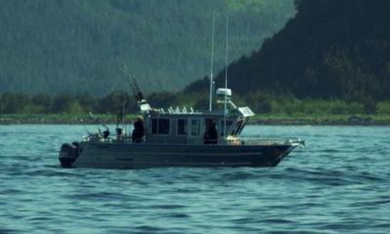 32ft Armstrong Marina Catamaran Boat In Seward, Alaska