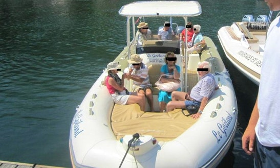 Excursions On The Gulf Of Girolata Aboard A Zodiac Pro 420 Boat With A Captain