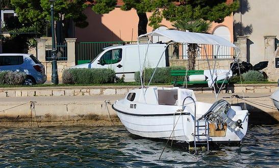 Adria 500 Deck Boat Hire In Tisno
