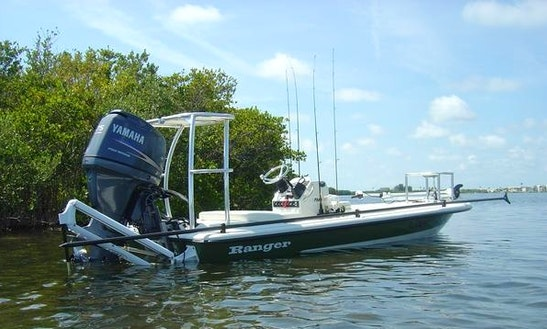 17ft Ranger Center Console Fishing Boat Charter In Cocoa Beach, Florida