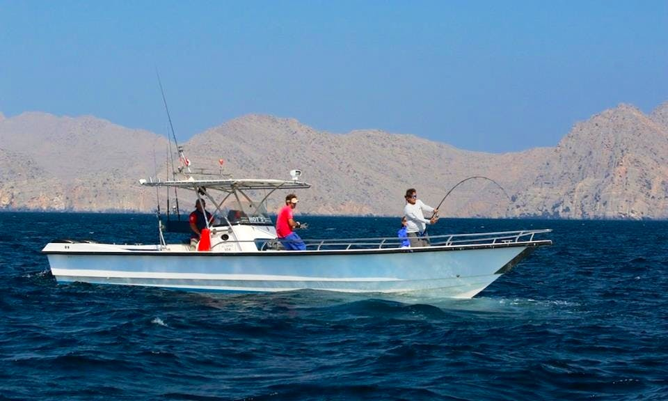 Center Console Rental for Fishing in Oman