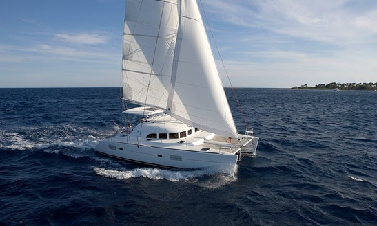 Lagoon 380 Sailing Catamaran Charter In Santorini