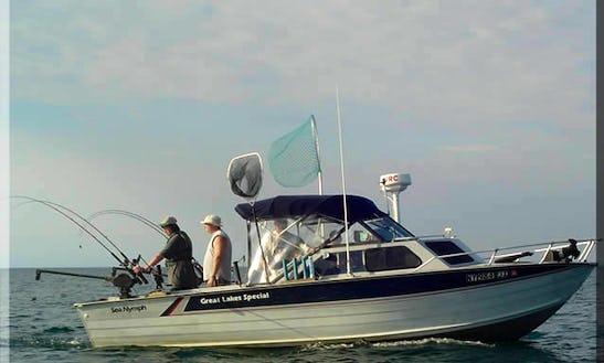 22' Fishing Trip Charter In Hamlin