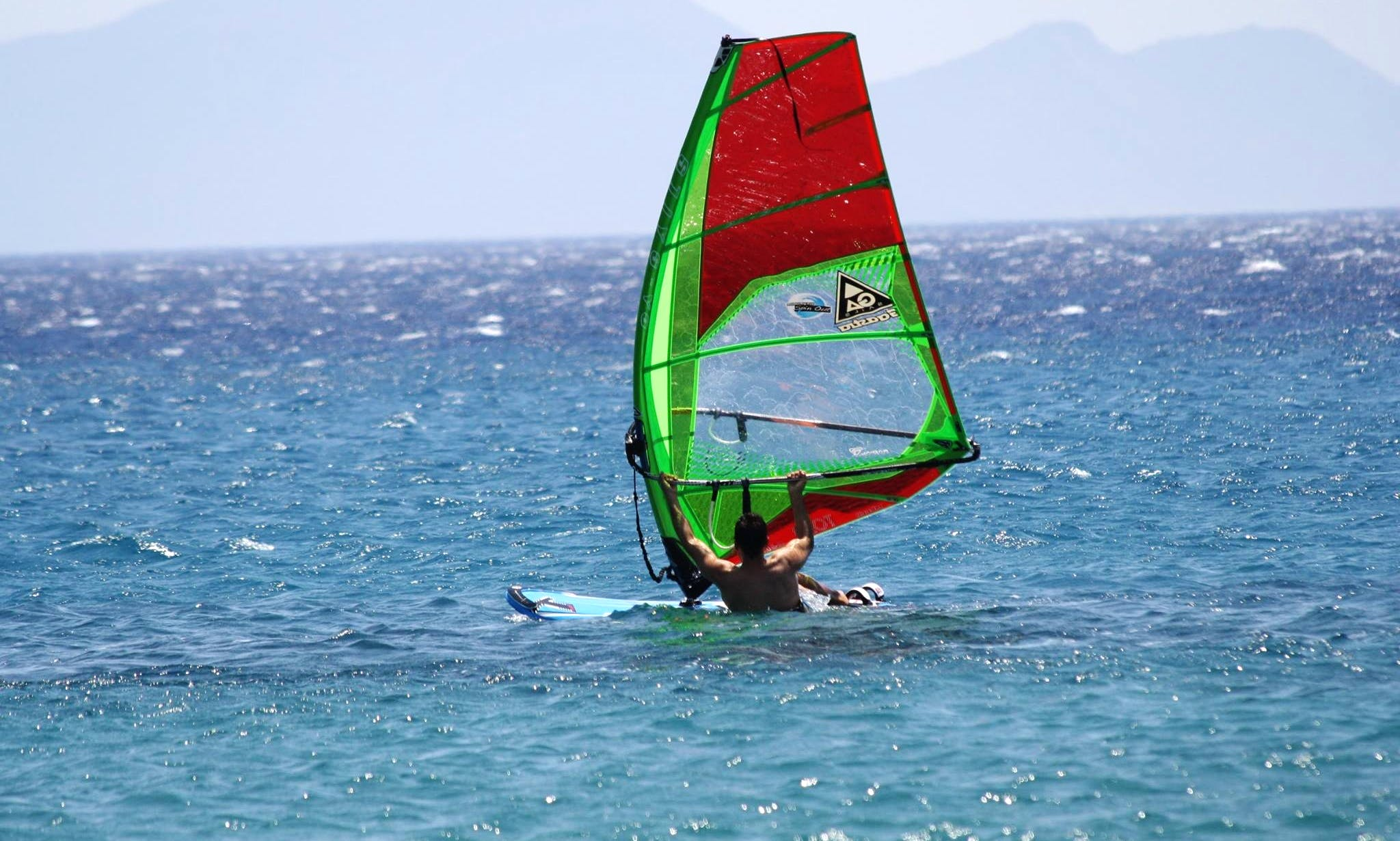 Windsurfing in Kos, Greece