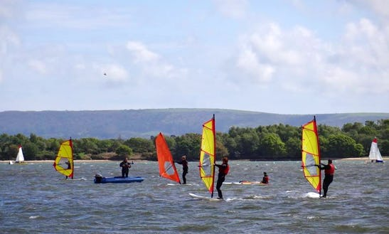 Windsurfing At Poole Park