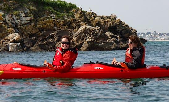 Sea Kayaking With Tandem Kayaks In Ploemeur, France