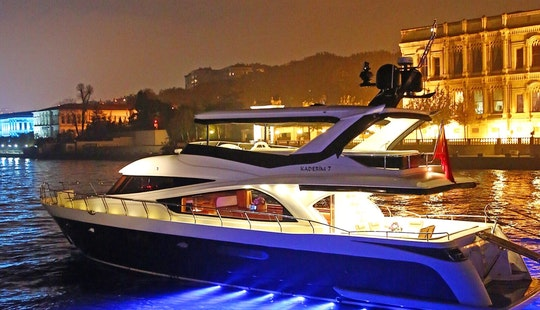 Reserve A Luxury Motor Yacht In İstanbul, Turkey For 25 People!