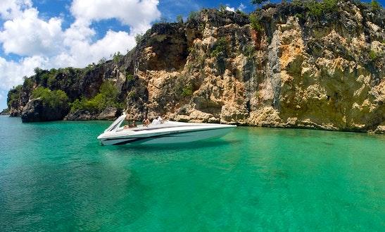 Sonic Cigarette Hull Boat Charter In Sint Maarten