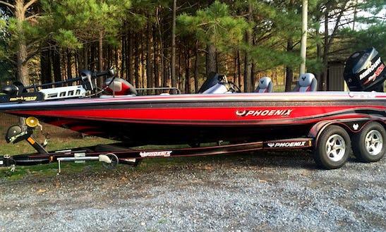 21' Phoenix Bass Boat Fishing Trips On Weiss Lake