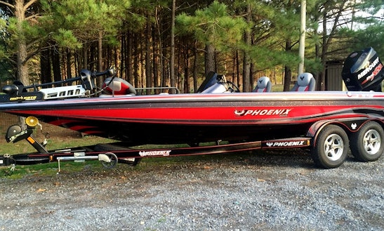 21' Phoenix Bass Boat Fishing Trips On Weiss Lake