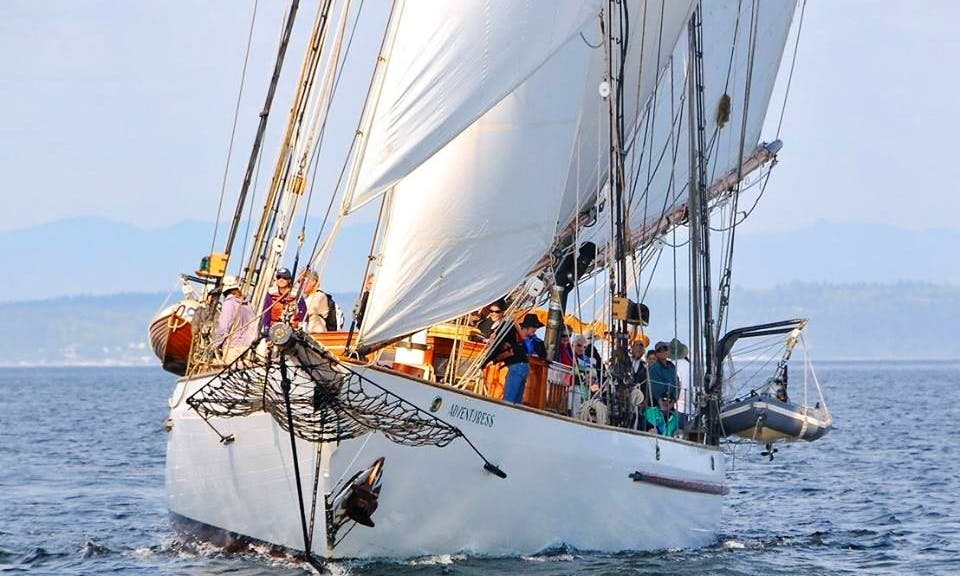 "Charter 133ft ""Adventuress"" Schooner In Port Townsend, Washington"