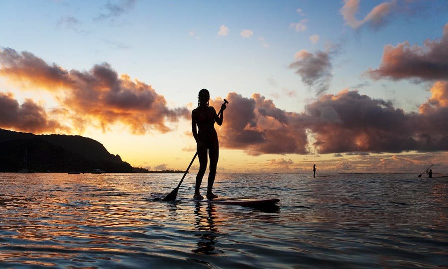 Stand Up Paddleboarding In Potrerillos