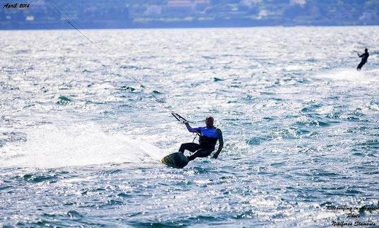 Kiteboarding In Kefallonia, Greece