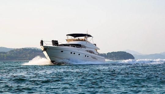'louise' Princess 65 Yacht Charter In Tambon Chalong