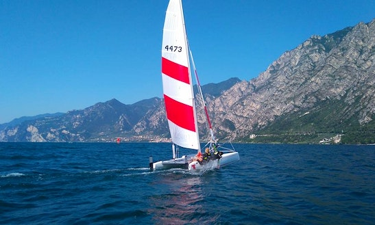 K1 Topcat Catamaran Rental & Sailing Lessons In Limone Sul Garda