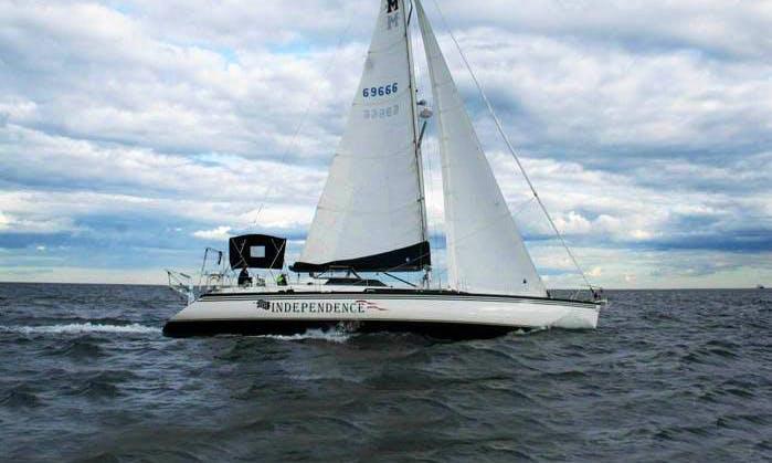 """65ft """"Macgregor"""" Independence Sailboat Charter in Salem, Massachusetts"""