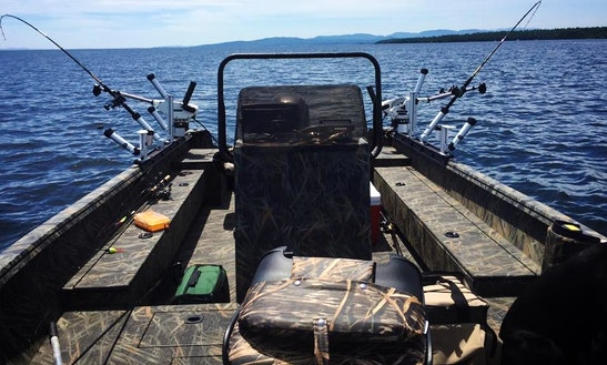 Bass Boat Fishing Trips In Plattsburgh, New York