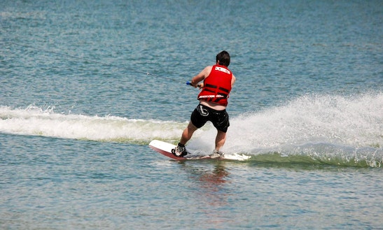 Wakeboarding Session In Mouliets-et-villemartin