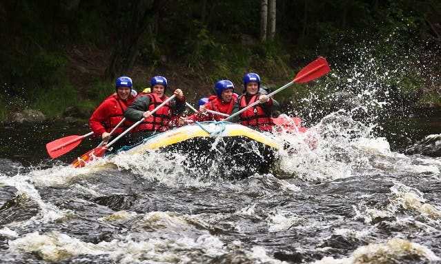Daily Rafting Trips in Laukaa