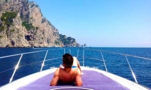 Private Day Excursion aboard Tornado 38 Motor Yacht in Capri, Italy