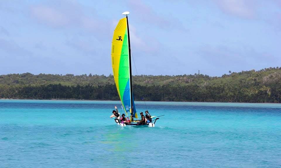 Hobie Cat Sailing Tour In Aitutaki
