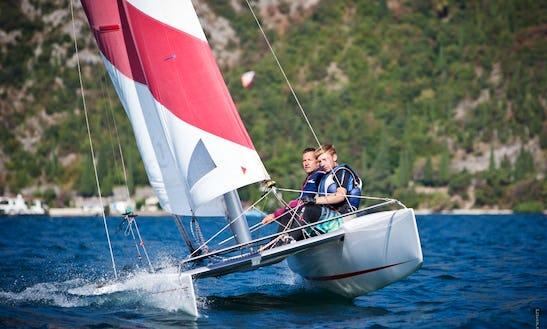 17' Catamaran Windsurfing In Brenzone, Italy