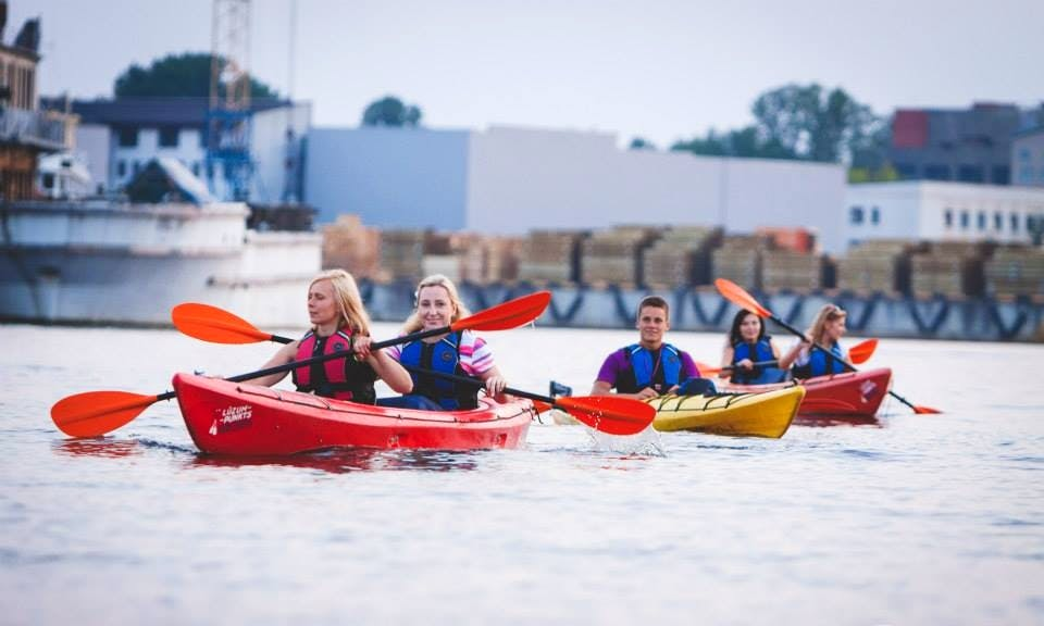 Guided Water Sightseeing Adventure with a Kayak in Rīga, Latvia