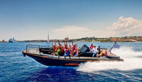 High Speed Rib Boat Sea Ride In Rhodes