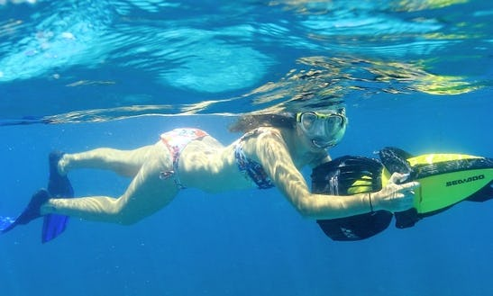 Snorkeling With Seadoo Power Underwater Scooter In Exmouth Gulf