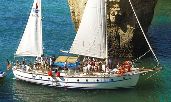 Cruising On A 50ft Traditional Wooden Sailboat From Albufeira, Faro