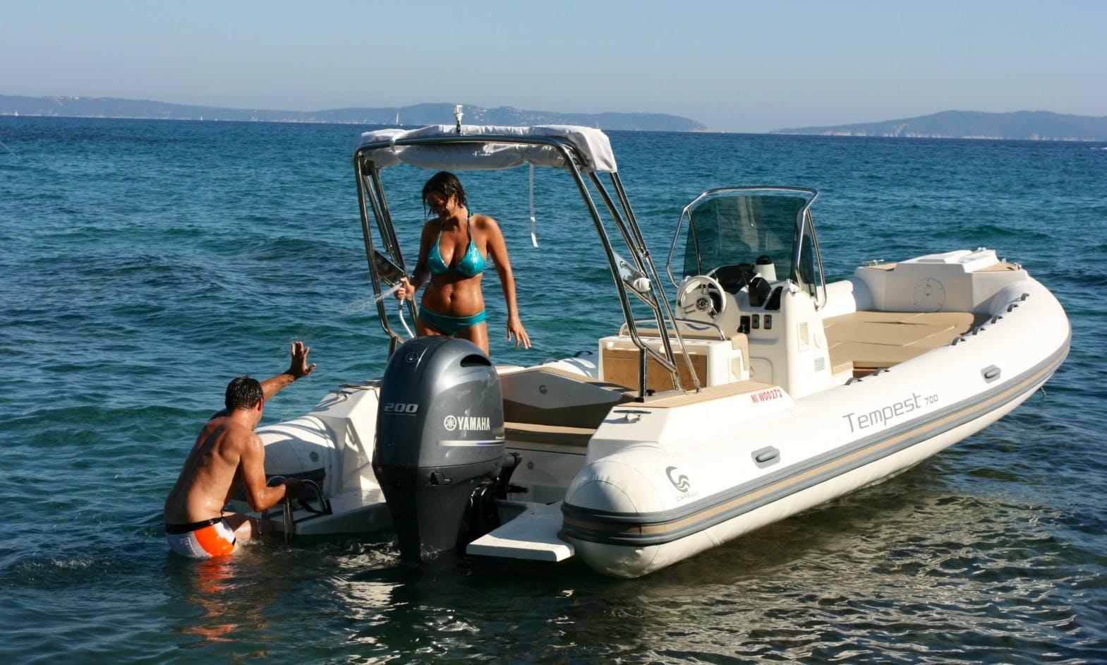Capelli Tempest 7 Boat Hire in Cargèse