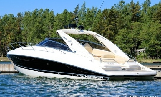 34ft Sunseeker Superhawk Luxury Yacht Charter In Poole, United Kingdom
