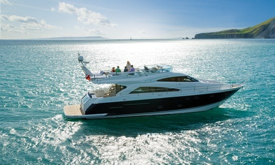 58ft Fairline Squadron Yacht Charter In Lymington, United Kingdom