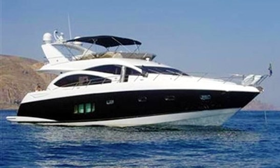 60ft Sunseeker Manhattan Luxury Yacht Charter In Barcelona, Spain