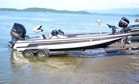 Guided Fishing Trip Boat In Rockford