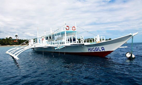 'higala' Outrigger Boat Scuba Diving In Alcoy - Philippines