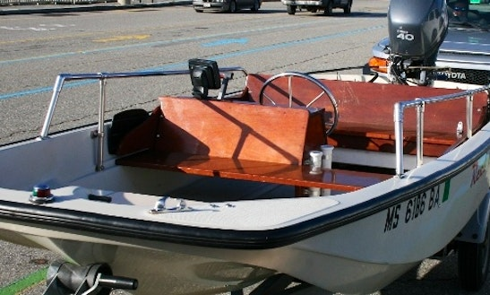 17ft Boston Whaler Dinghy Boat Rental In North Haven, Maine
