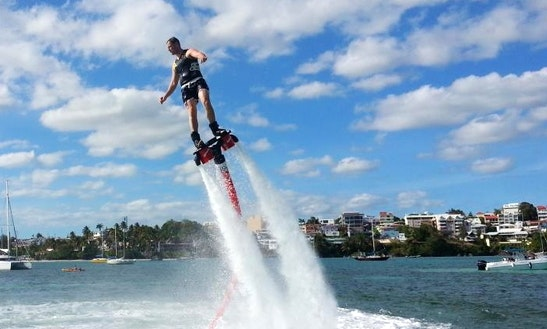 Flyboarding In Sant Joan De Labritja, Spain