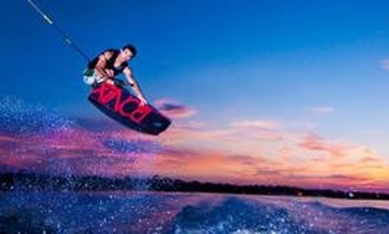 Wakeboarding In Sant Joan De Labritja, Spain