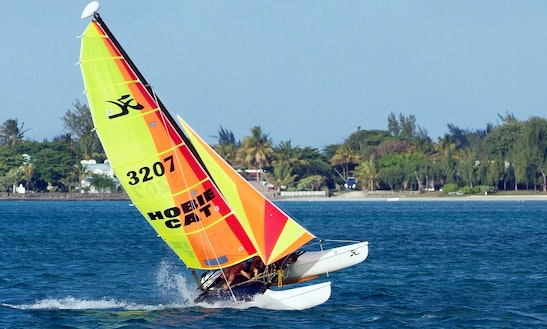 Windsurfing In Castelldefels, Spain