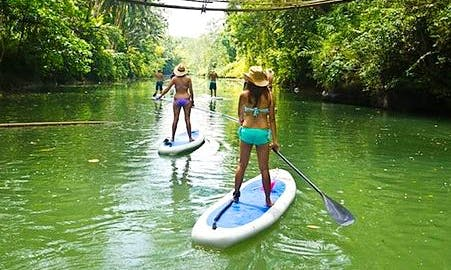 Paddleboard Lesson in the Sungai Geroh River