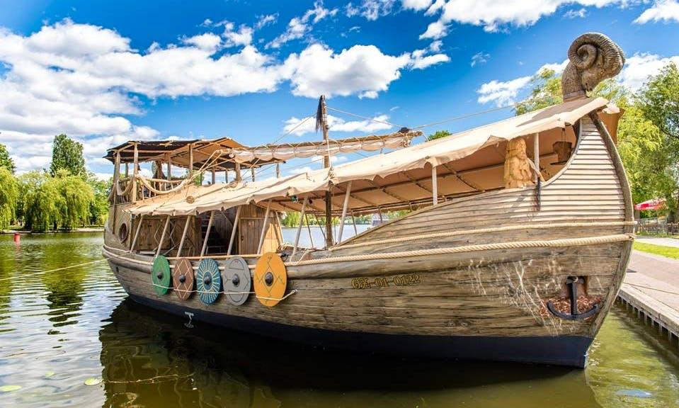 'Jaćwież' Boat Cruising in Augustów