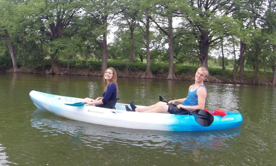 13.5' Tandem Kayak Rental in New Braunfels, Texas