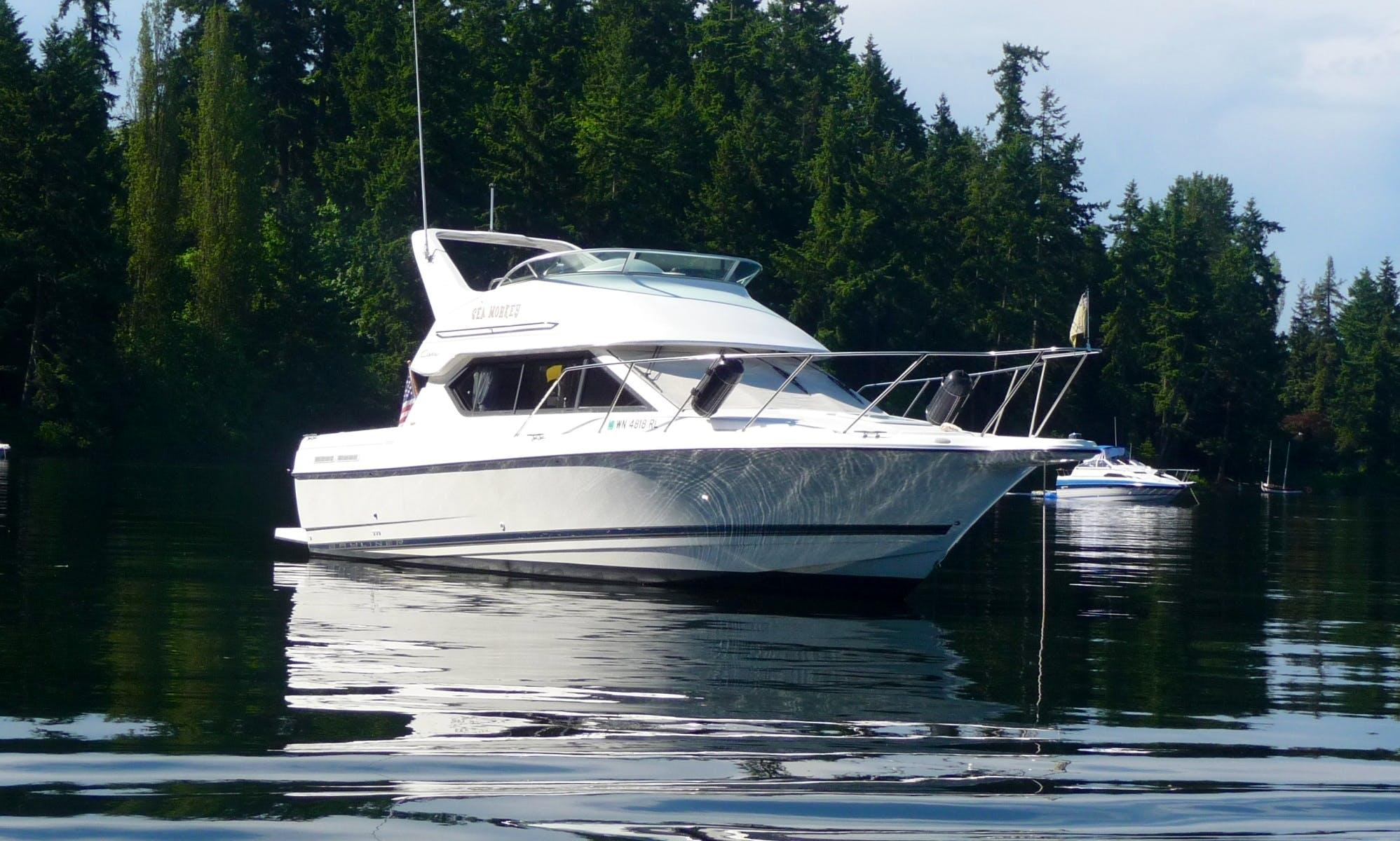 28ft Motor Yacht Rental In Seattle, Washington