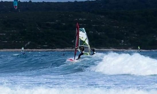 Windsurfing In Island Vis - Croatia